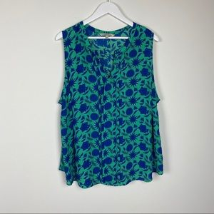 41 Hawthorn Floral sleeveless Top Size 3x